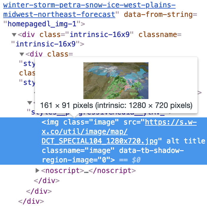 The image, inspected in Chrome Devtools